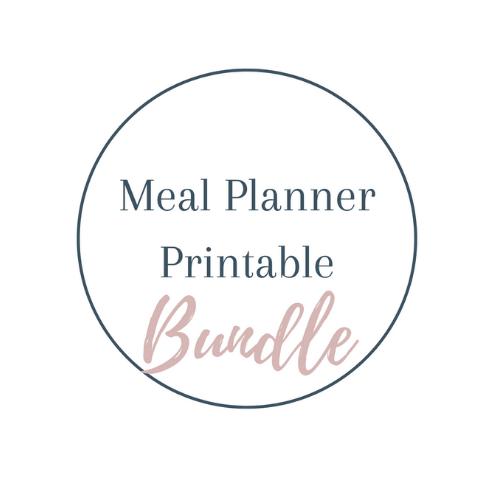 Meal Planner Printable bundle