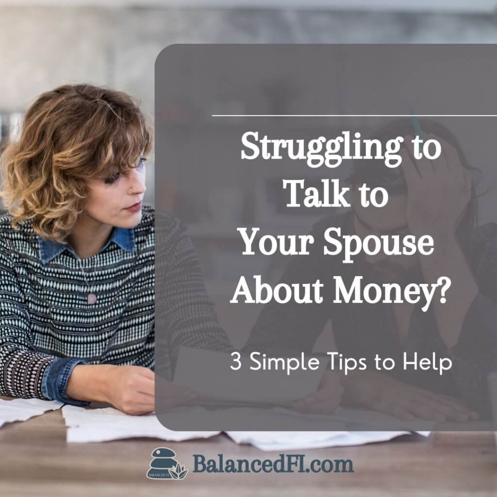 talk to spouse about money